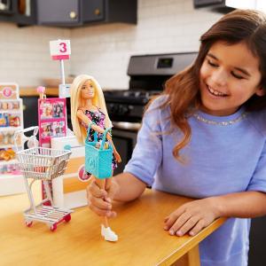 Barbie Bebek Süpermarkette Oyun Seti FRP01