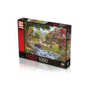 Ks Puzzle 1000 Parça Summer Village Stream