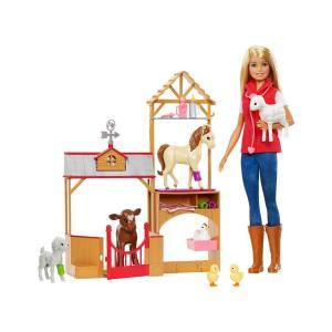 Barbie Çiftlikte Veteriner Oyun Seti GCK86