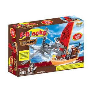 Furkan F-Blocks Lego Seti Korsan Seri 132 Parça
