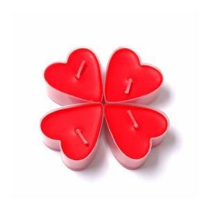 100 Adet Birden Tealight Kalp Şeklinde Mum Romantik Mum
