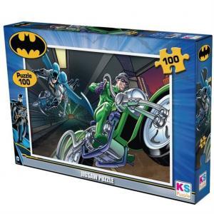 100 Parça Batman Yapboz Motosıkletli