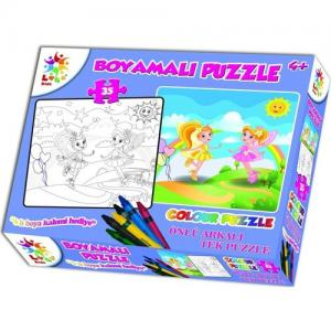 Laço Kids Boyamalı Puzzle Kız 35 parça