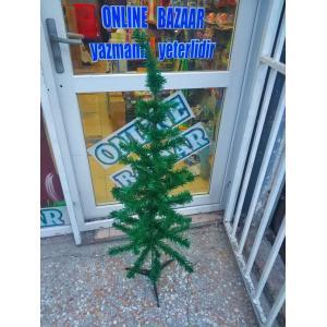 120 Cm Gür Dallı Yılbaşı Ağacı Yeşil Çam Ağacı Noel Ağacı