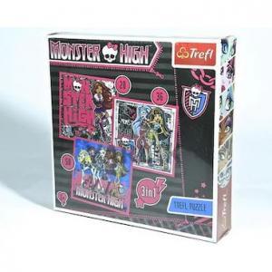 Trefl 20+36+50 Parça 3'Lü Çocuk Puzzle Monster High