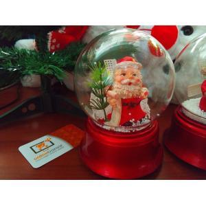 15 Cm Pilli Işıklı Yılbaşı Noel Baba Temalı Kar Küresi Fanus Küre