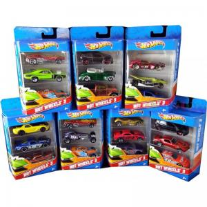 1:64 HOT WHEELS ÜÇLÜ METAL ARABA OYUN SETİ