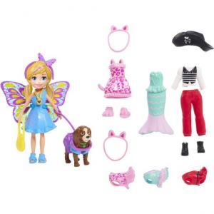 Polly Pocket ve Hayvan Dostu Kostüm Giyiyor Oyun Seti GDM15