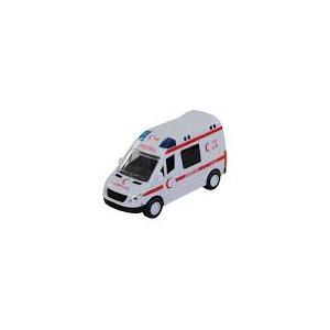 Işıklı Sesli Pilli Ambulans Minibüs 16 CM