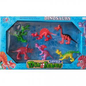 Dinazor Figür Seti Kutu İçerisinde Renkli Oyuncak Dinazor 6 Lı Paket