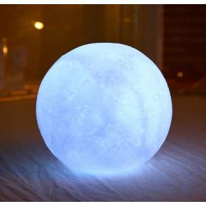 3D Dekoratif Ay Şeklinde Gece Lambası Orta Boy  Standlı 10 Cm