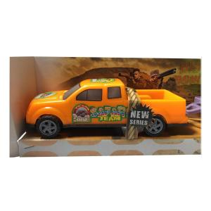 Kafesli Havyan Taşıyan Çekicili Safari Arabası 43cm Büyük Boy