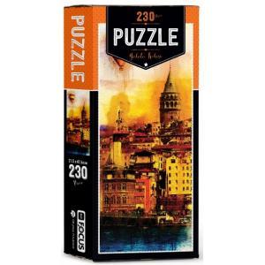 Galata Kulesi Kutulu Puzzle 230 Parça Blue Focus