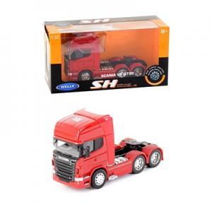 Welly 1:32 Metal Scanıa V8 R730 Model Diecast Tır Kafası Kırmızı