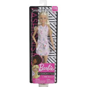 Barbie Fashionistas Büyüleyici Parti Bebekleri ve Aksesuarları Sarışın, Çiçekli Elbiseli FXL52