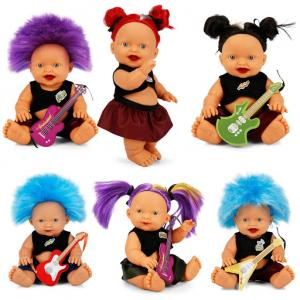 Sunman Punk Nil Bebek Tarzını Göster Saçlı Bebek 23 Cm