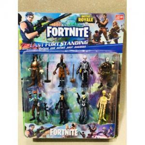 Fortnite 8'li Figür Seti Oyun Figürleri 8 cm Aksesuarlı