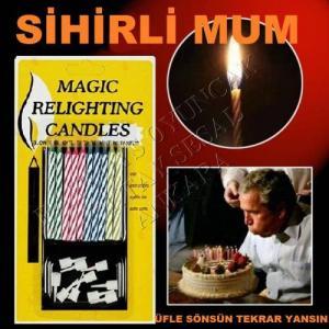 20 ADET MAGIC RELIGHTING CANDLES SÖNMEYEN MUM SİHİRLİ MUM DOĞUM GÜNÜ MUMU