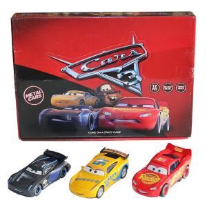 Cars Metal  3 ADET  Araba Şimşek Mcqueen,Jackson storm,Dinoco