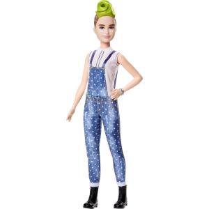 Barbie Fashionistas Bebek ve Aksesuarları Yeşil Mohawk Saçlı FXL57