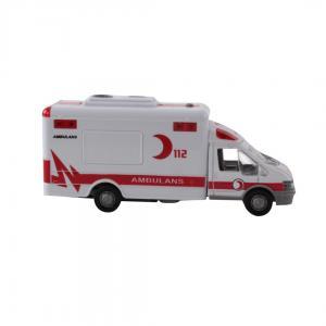 Pilli Işıklı  Sesli Metal  Ambulans