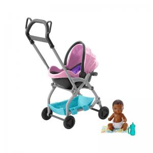 Barbie Bebek Bakıcısı Temalı Bebek Arabası FXG94-FXG95
