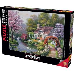 Anatolian-Puzzle 1500 Çiçekli Ev Spring Cottage In Full Bloom 4556