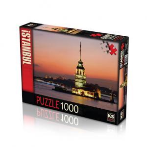 Ks Games Puzzle Kız Kulesi Günbatımı 1000 Parça Puzzle