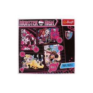 Trefl 4in1 35-48-54-70 Monster High 2 Puzzle