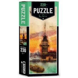 Blue Focus Puzzle - Kız Kulesi Kutulu - 230 Parça