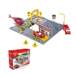 Mgs 3D İtfaiye Garajı Oyun Seti ve 5 Adet İtfaiye  Aracı 5740