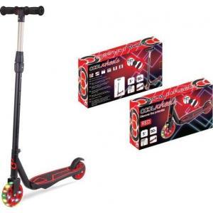 Cool Wheels 2 Tekerli Işıklı Ayarlanabilir Scooter - Kırmızı +5