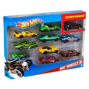 Orijinal Hot Wheels Onlu Araba Seti Hotwheels Metal Araba 10 Adet
