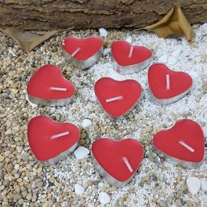 50 Adet Birden Tealight Heart Candle Kalp Şeklinde Romantik Mum