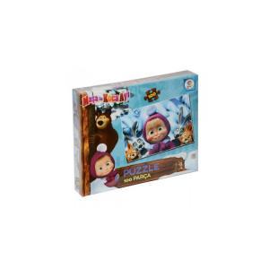 Laço Masha Koca Ayı 100 Parça Çocuk Puzzle