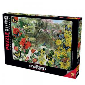 Anatolian Puzzle 1000 Parça Bahçedeki Tavuskuşu 1084