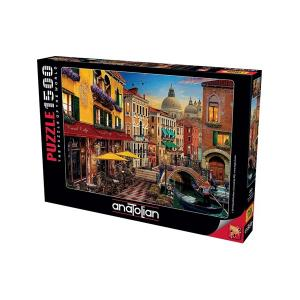 Anatolian 1500 Parça Venedik Kanal Cafe Puzzle