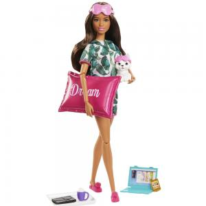 Barbie Wellness Barbienin Spa Günü Bebekleri GKH73-GJG58 Kahverengi