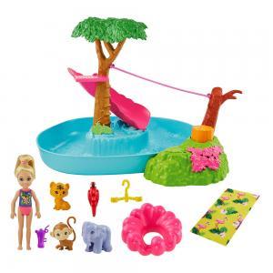 Barbie ve Chelsea Kayıp Doğum Günü Havuz Partisi Oyun Seti GTM85