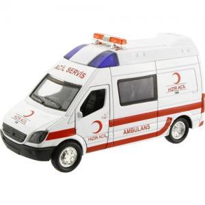 Işıklı Metal Çekbırak Ambulans 12 Cm