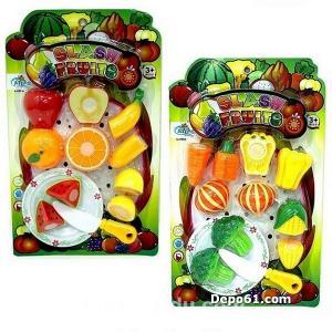 12 Parça Food Heaven Kesilebilir Meyve Sebze Seti