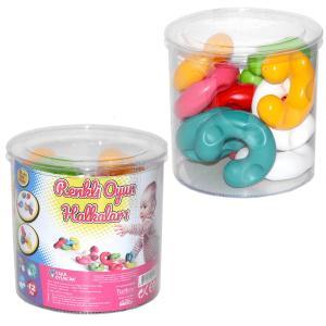 12 Li Renkli Oyun Halkalar Çocuk Oyuncagi