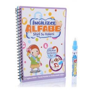 Sihirli Boyama Kitabı Özel Kalemi Water Magic Boyama İngilizce Alfabe