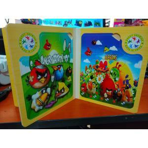 Ahşap Kitap Şeklinde 11 Parça 6 Farklı Angry Birds Puzzle Seti