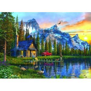 Anatolian Puzzle Dağ Evinde Günbatımı 1000 Parça Puzzle