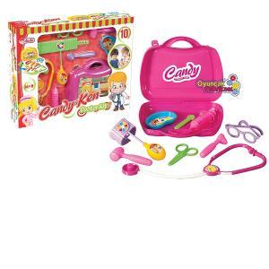 Candy Çantalı Oyuncak Doktor Seti 10 Parça