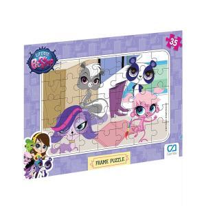 2 Adet Birden Littlest Pet Shop 35 Parça Frame Çocuk Puzzle