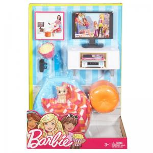Barbie Ev İçi Dekorasyon TV Set DVX46
