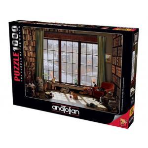 Anatolian Puzzle 1000 Parça Pencere Kedileri 1065