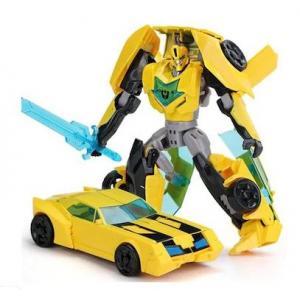 Metal Gövdeli Transformers Tarzında Bumblebee Dönüşen Robot Araba
